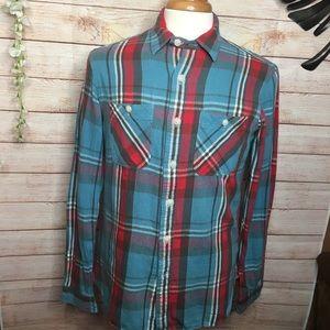 Polo Ralph Lauren plaid buttons down flannel S